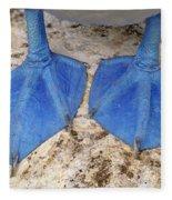 Blue-footed Booby Feet  Fleece Blanket