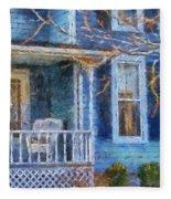 Blue Front Porch Photo Art 01 Fleece Blanket