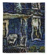 Blue Front Porch Photo Art 04 Fleece Blanket
