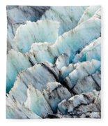 Blue Glacier Ice Background Texture Pattern Fleece Blanket