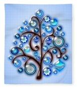 Blue Glass Ornaments Fleece Blanket