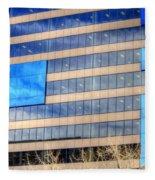 Blue Glass Reflections 4993 Fleece Blanket