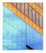 Blue Glass Reflections 4999 Fleece Blanket