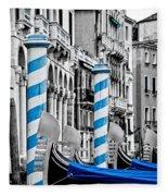 Blue Gondolas Fleece Blanket