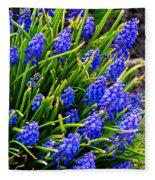 Blue Grape Hyacinth Fleece Blanket