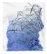 Blue Grass Fleece Blanket
