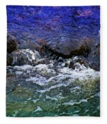 Blue Green Water Fleece Blanket