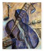Blue Guitar - About Pablo Picasso Fleece Blanket