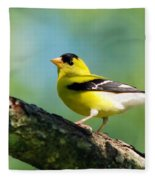 Blue Heart Goldfinch Fleece Blanket