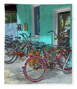Blue Heaven Key West Bicycles Fleece Blanket