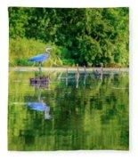 Blue Heron  Fleece Blanket