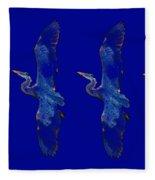 Blue Heron Ballet Fleece Blanket