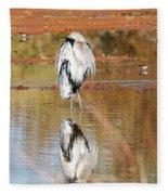 Blue Heron Grooming Fleece Blanket
