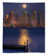 Blue Heron Moon Fleece Blanket