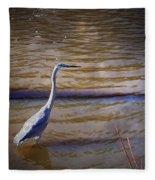 Blue Heron - Shallow Water Fleece Blanket