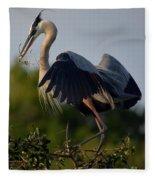 Blue Heron Wing Tips Fleece Blanket