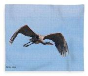 Blue Herons Last Fly By Fleece Blanket