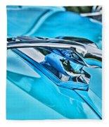 Blue Hood Ornament-hdr Fleece Blanket