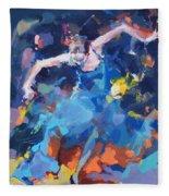 Blue Hurricane Fleece Blanket
