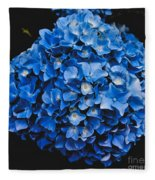 Blue Hydrangea 1 Fleece Blanket
