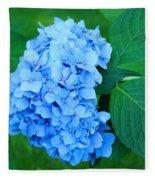 Blue Hydrangea Flower Art Prints Nature Floral Fleece Blanket