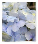 Blue Hydrangea Flowers Fleece Blanket