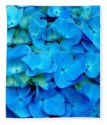 Blue Hydrangea Fleece Blanket