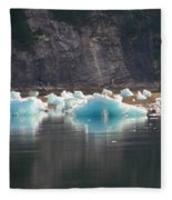 Blue Ice Flows Fleece Blanket