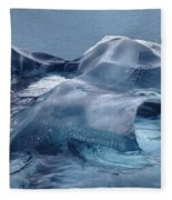 Blue Ice Sculpture Fleece Blanket