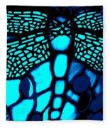 Blue Imitation  Fleece Blanket