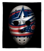 Blue Jackets Goalie Mask Fleece Blanket