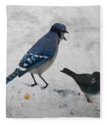 Blue Jay And Junco Fleece Blanket