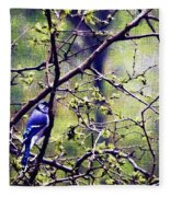 Blue Jay - Paint Effect Fleece Blanket