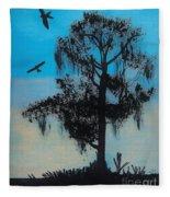 Blue Kite Sunset Fleece Blanket