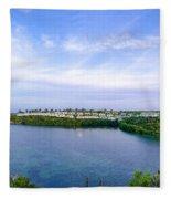 Blue Lagoon Cottages Fleece Blanket