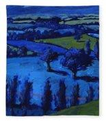 Blue Landscape Fleece Blanket