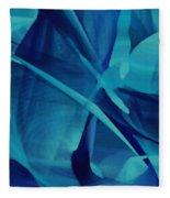 Blue Linear Mesh No 1 Fleece Blanket