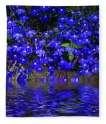 Blue Lobelia Fleece Blanket