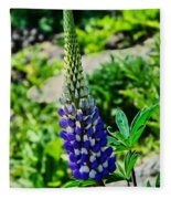 Blue Lupins Fleece Blanket
