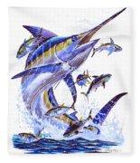 Blue Marlin Fleece Blanket
