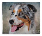 Blue Merle Australian Shepherd Fleece Blanket
