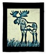 Blue Moose Fleece Blanket