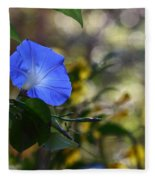 Blue Morning Glories Fleece Blanket