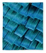 Blue Morpho Wing Scales Fleece Blanket