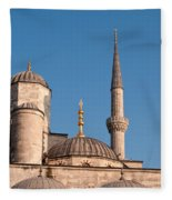 Blue Mosque 02 Fleece Blanket