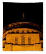 Blue Mosque At Night 03 Fleece Blanket