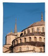 Blue Mosque Domes 07 Fleece Blanket