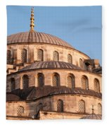 Blue Mosque Domes 09 Fleece Blanket