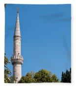 Blue Mosque Minaret 01 Fleece Blanket