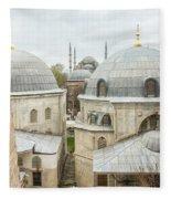 Blue Mosque View From Hagia Sophia Fleece Blanket